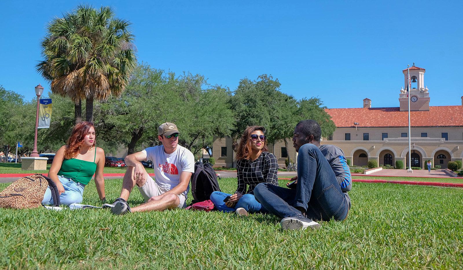 Photo Of Students socializing on University Blvd