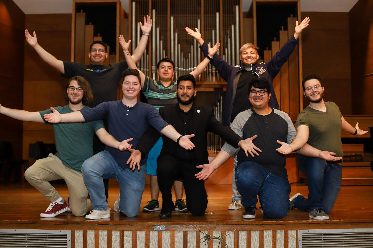 Eight music student who will compete in the National Opera Association competition in 2020.