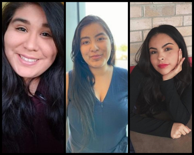 Karen Colchado (left), Karla Clemens (middle) and Danielle Rodriguez (right) were named finalists in the the Texoma National Association of Teachers of Singing (NATS) Competition in November.