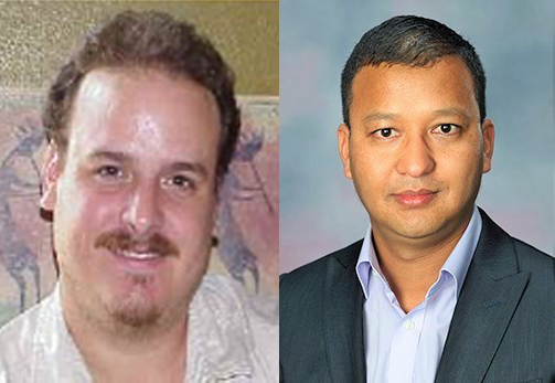 Dr. Roberto Vela, left, was selected as an Education Fellow.Dr. Ammar Bhandari, right, was selected as a Science Fellow.