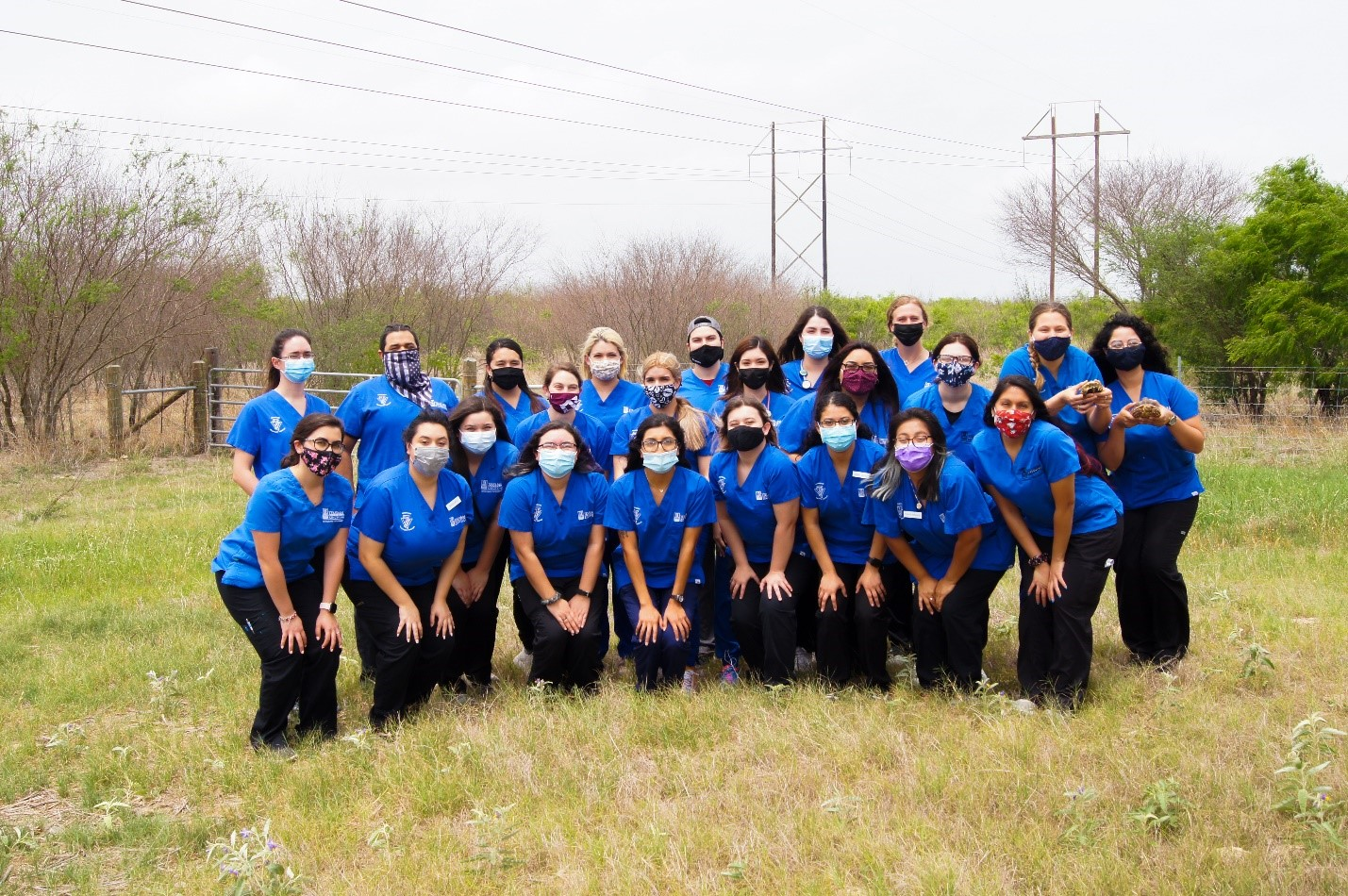 Texas A&M University-Kingsville students received pins to celebrate their graduation from the Veterinary Technology program in May 2021.