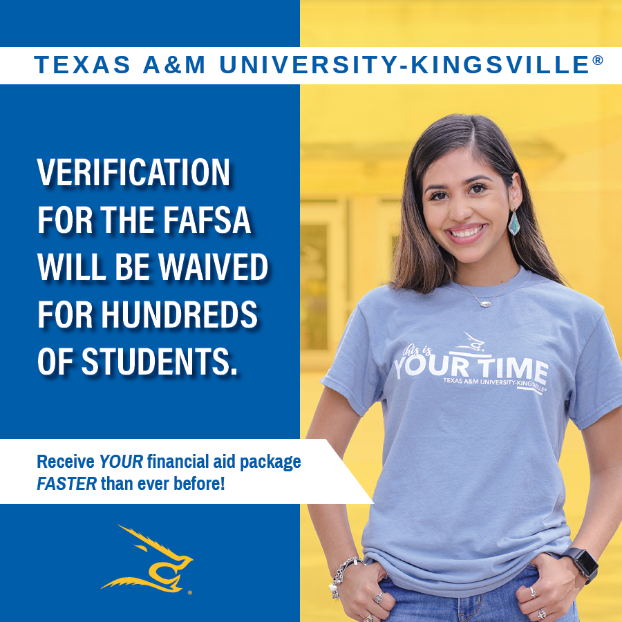 Most students who are flagged for verification by the Department of Education (DOE) will not need to provide verification of family size and income for the 2021-2022 FAFSA cycle.